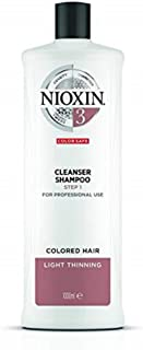 Nioxin System 3 Cleanser Shampoo for Coloured Hair with Light Thinning