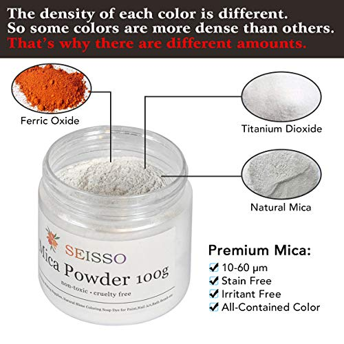 Silver White Mica Powder - 3.5 Ounces/ 100 Grams - Natural Epoxy Resin Dye - for Soap Making, Slime and Nail Pigment Powder, Paint, Bath Bomb Colorant
