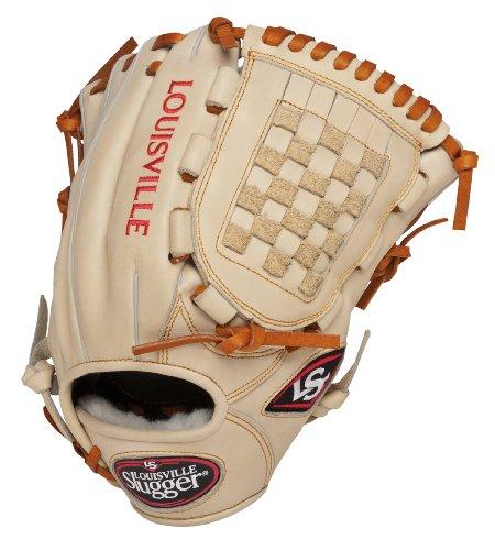 Louisville Slugger 12-Inch FG Pro Flare Baseball Infielders Gloves, Cream, Left Hand Throw