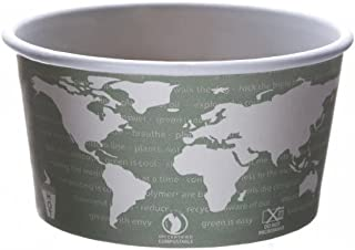 Eco-Products EPBSC12WA World Art Renewable & Compostable Food Container - 12oz, 25 per Pack (Case of 20 Packs)