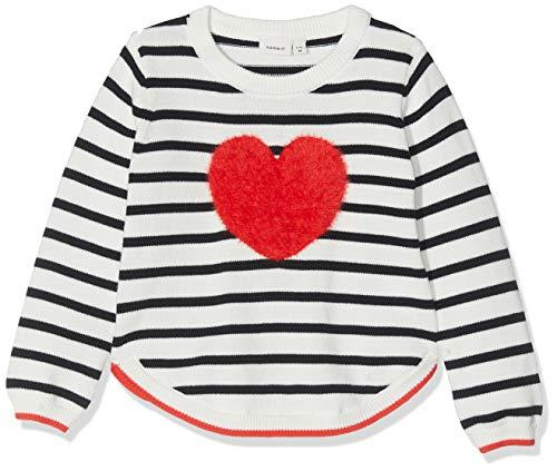 NAME IT Baby-Mädchen Nmfluvifa Ls Knit Box Pullover, Mehrfarbig (Dark Sapphire Dark Sapphire), (Herstellergröße: 92)