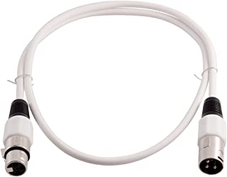 Grindhouse Speakers - LEXLR-3White - 3 Foot White XLR Patch Cable - 3 Foot Microphone Cable Mic Cord