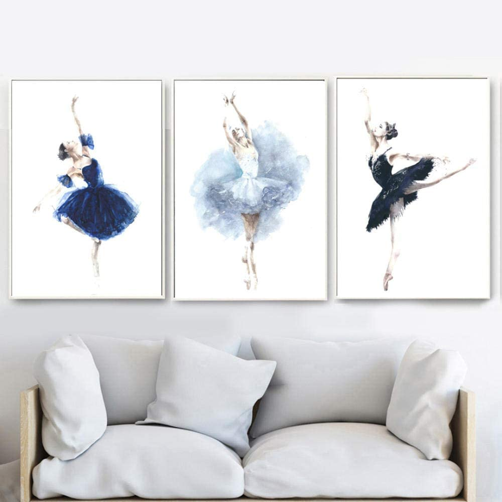 Women Ballet People Wall Indianapolis Mall Art Canvas Nordic 3 Painting Pos Virginia Beach Mall Pieces