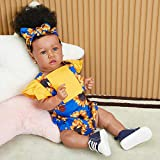 UCanaan Lifelike Reborn Baby Doll with Soft Weighted Body, African American Real Life Girl Dolls,Handmade Newborn 22 Inch Baby Dolls, Best Toddler Gift Set for Ages 3+