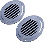 Hoffen 2PCS Round Louvered Vent Marine Boat Vent, Stainless Steel Caravan Vent (4Inch)