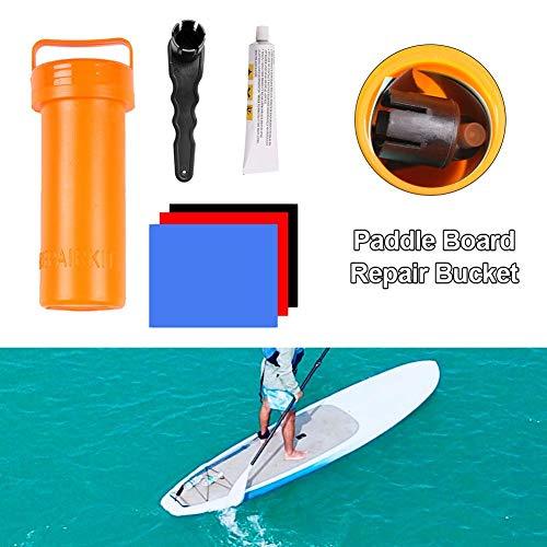 Wateralone Surfen Zubehör Paddle Board Reparaturset für aufblasbare Stand Up Paddle Boards (SUP) mit Kleber, PVC stabiles, langlebiges Reparaturwerkzeug, Farbe zufällig