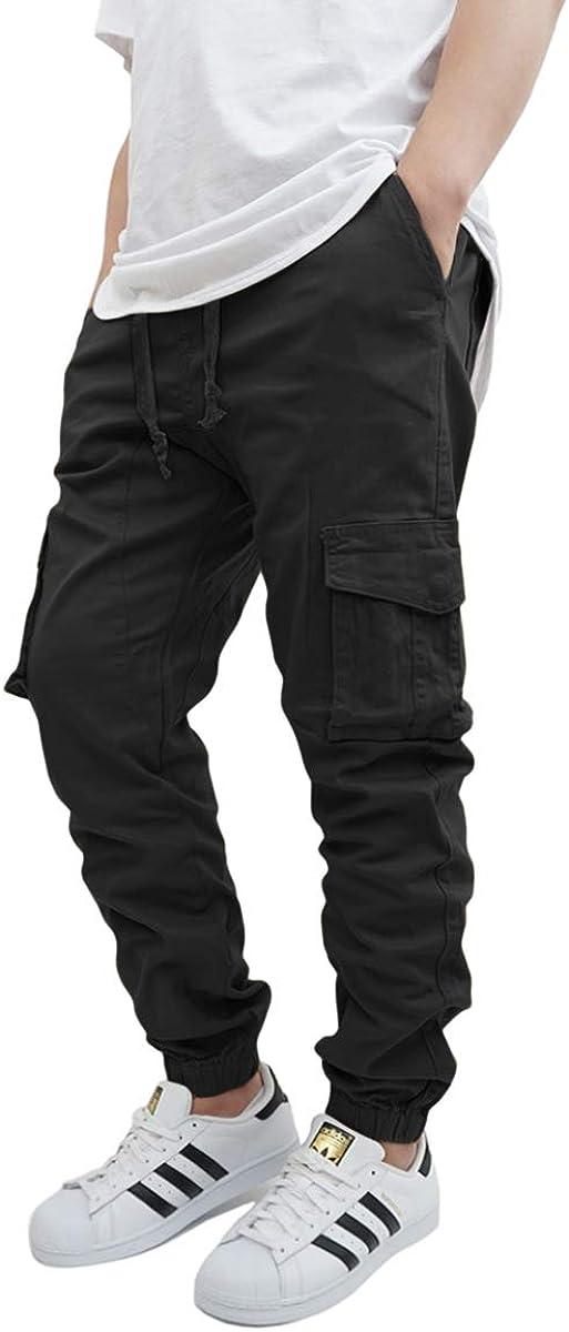 URBANJ Men's Twill Cargo Jogger Pants Size S-5XL