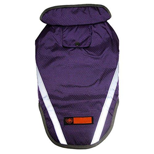 JoyDaog - Giacchetta impermeabile di prima qualità per cani, super traspirante lavorato a rete, foderato, ideale per attività all'aperto, colore viola
