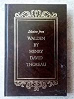 Selections From Walden by Henry David Thoreau 0517119765 Book Cover