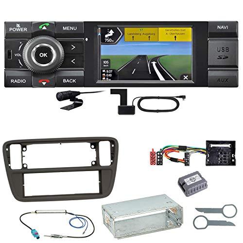 Kienzle MCR 1031 NAV Navi Digitalradio Bluetooth USB AUX Autoradio Navigation Einbauset für Up Seat MII Skoda Citigo