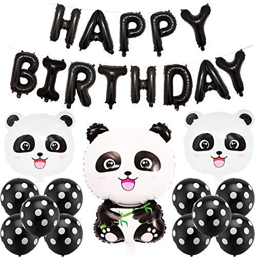 BETOY Panda Party Dekorationen, Panda Geburtstag Dekoration Set Kindergeburtstagsdekorationen, Süß und Zart Panda Luftballons für Jungen- und Mädchengeburtstagsfeier, Partyfeier, Party (Panda Banner)