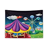 ABAKUHAUS Grande Roue Tapisserie, Kids Entertainment, Dirt Résistant, 150 x 110 cm,...