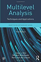 multilevel analysis techniques and applications