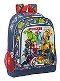 Safta Mochila Escolar de Avengers Heroes Vs Thanos, 320x140x420mm, azul marino/multicolor, M (M522)