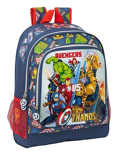 Safta Mochila Escolar de Avengers Heroes Vs Thanos  320x140x420mm  azul marino multicolor