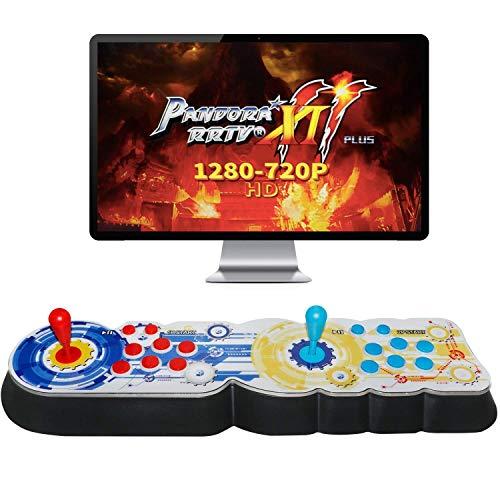 KJDFN Qwer Boîte de Pandore 11 Arcade Game Console, 2706 Jeux installés, Support Jeux 3D, Jeux, Classification CPU aménagee, Support PS3 PC TV 4 Joueurs, la liste des favoris (Noir) (Noir)