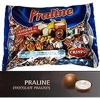 Pralinés de chocolate con leche y chocolate negro rellenos de diferentes cremas. Bolsa 1kg