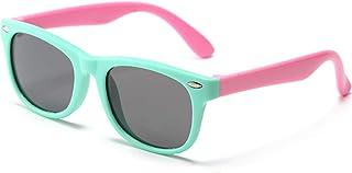 Kids Polarized Sunglasses TPEE Rubber Flexible Children's...