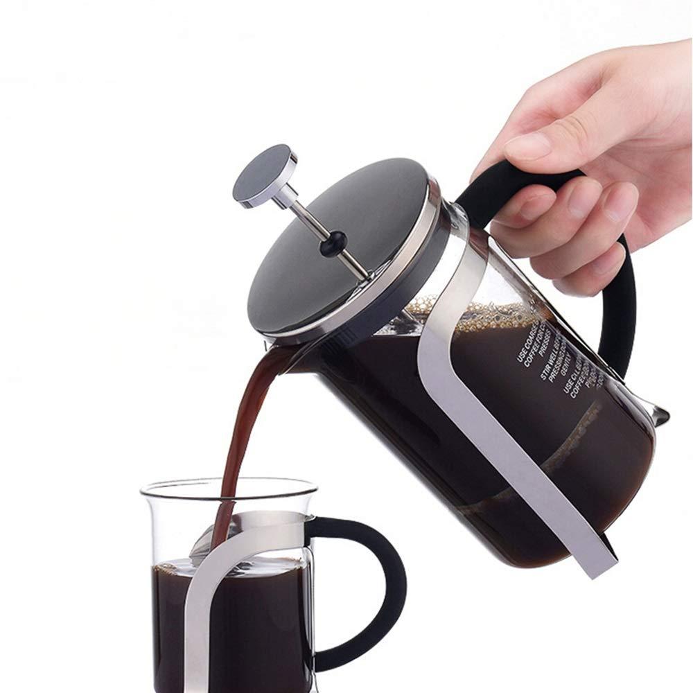Licyen Prensa Francesa cafetera Manual de hogar té Filtro Copa Tetera presión Francesa Bote de Vidrio Mano Brewed Coffee Pot French Press Set (Color : Clear, tamaño : 350ml): Amazon.es: Hogar