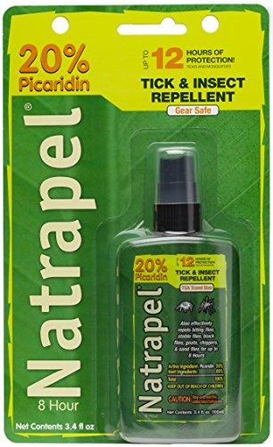 Natrapel Picaridin Insect Repellent 3.4 oz Pump Spray – 12 Hour Bug Repellent Repels Mosquitoes, Ticks and More