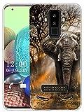 Sunrive Kompatibel mit DOOGEE S90 Hülle Silikon, Transparent Handyhülle Schutzhülle Etui Hülle (X Elefant)+Gratis Universal Eingabestift MEHRWEG