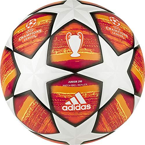 Adidas Herren Finale J290 Ball, Oberteil: Weiß/aktives Rot/Scharlachrot/Solarrot, Unterseite: helles Orange/Solar Gold/Schwarz, 5