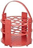Bel-Art F18741-0020 - Estante redondo para tubos de ensayo, 16 – 20 mm, 24 lugares, color blanco, polipropileno, 13-16mm Tubes, Rojo, 1