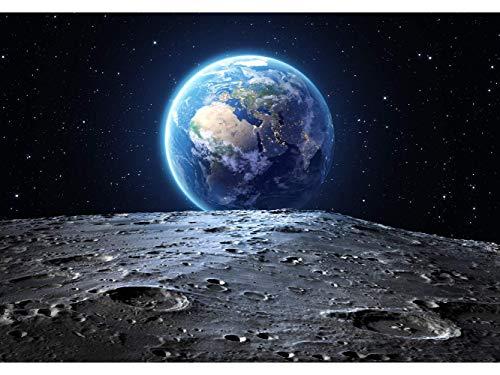 Oedim Stickers muraux Photo Image Infantile   La Terre Vue de la Lune   De 100 x 70 cm   Sticker Vinyle Adhésif Autocollant Fond Mural  