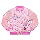 Disney Princess Quilted Varsity Jacket for Girls, Size 9/10