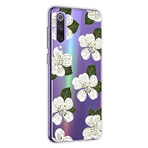 Suhctup Case Compatible con XiaomiMiMAX2 Funda Silicona Transparente Dibujos Diseño TPU Bumper Crystal Ultra Slim Antigolpes Protection Cárcasa Cover para XiaomiMiMAX2,Flor 5