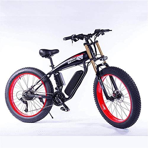 Bicicletas Eléctricas, 26' bicicleta eléctrica de montaña con litio-Ion36v 13Ah de la batería de 350W de alta potencia de motor de aluminio bicicleta eléctrica con pantalla LCD adecuados, Rojo ,Bicicl