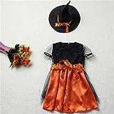 FIREWSJ Decoración De Disfraces De Halloween 3Pcs Dream Girl Disfraz De Halloween Vestido De Bruja Disfraz De Niño Vestido De Niña Sombrero De Niña Decoración De Niña