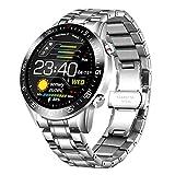 KJDS Reloj inteligente, círculo completo con pantalla táctil para hombre, IP68, impermeable, deportes, fitness, monitor de ritmo cardíaco, podómetro, cronómetro