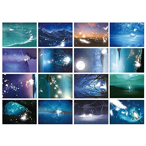 30 PCS 1 Satz Kreative Luminous Schöne Geburtstag/Gruß-Postkarten, Nacht