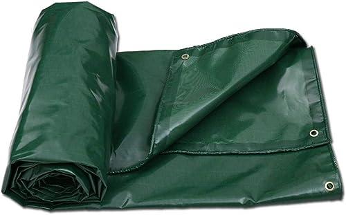 JINSH Tissu antipluie imperméable à l'eau de bache épaisse de Prougeection Solaire antidéflagrant de Toile de Tissu imperméable de bache de Prougeection de Voiture (Couleur   vert, Taille   5x4m)