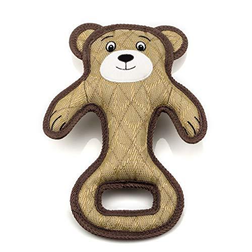 Chienzilla® Hundespielzeug Crazy Bear – Spielzeug quietschend – widerstandsfähig – zahnfreundlich – waschbar bei 30° – hundespielzueg robust – extrem stark – Zerrspielzeug – große Hunde – Spielzeug