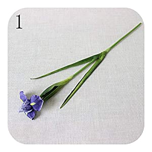 Onln 1pc Purple Iris Artificial Flower Real Touch PU Fake Plants Wedding Decoration Flowers Home Garend Decor