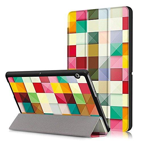 Huawei Mediapad T3 10.0 Tablet Case, Smart Cover Protective Case Cover for Huawei Mediapad T3 10.0 Tablet 10 Inch Cube magique