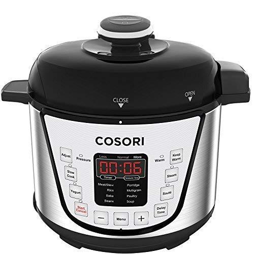 COSORI C3120-PC Pressure Slow, Rice Cooker, Saut, Steamer, Yogurt Maker Warmer, 24h Delay Timer, 2-Year Warranty, 2 Quart, Silver