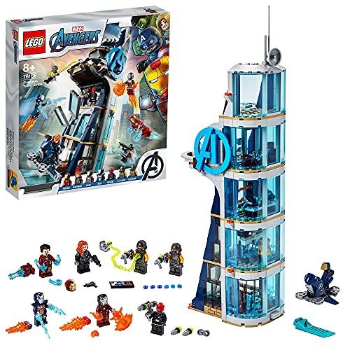 LEGO 76166 Marvel Super Heroes Batalla en la Torre de los Vengadores Set con Iron Man, Juguete de Construcción para Niños 8+ años