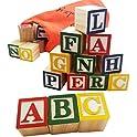 Skoolzy 30-Pieaces Wood Alphabet Blocksc