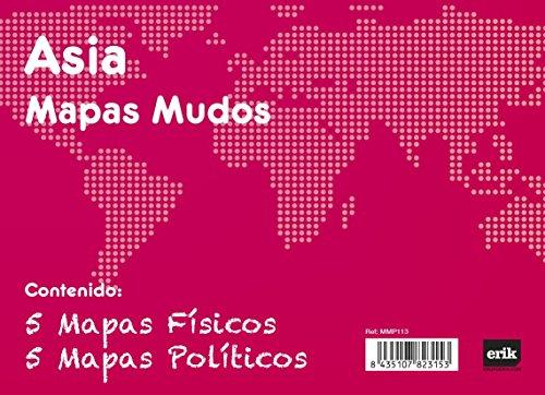 Grupo Erik Editores Pack 10 Mapas Mudos Asia Politica Fisica ⭐