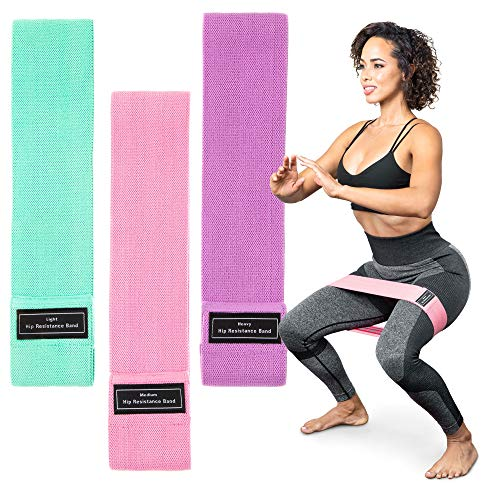 Serenily Resistant Bands for Women – Exercise Bands for Working Out. Booty Bands for Women & Men. Fabric Resistance Band…
