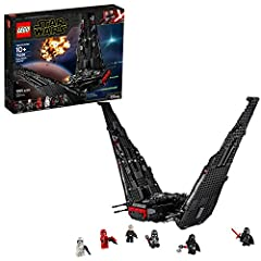 Inspire young minds to play out fantastic LEGO adventures with Kylo Ren's Shuttle from Star Wars: The Rise of Skywalker. This model shuttle is the perfect addition to the amazing Star Wars universe of construction toys. This impressive action buildin...