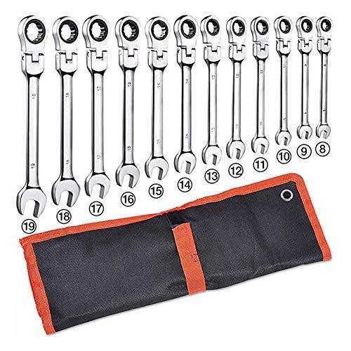 Herramientas de reparación de herramientas 14pcs llaves Conjunto multiherramienta llave de carraca Llaves de mano Conjunto de juego de llaves Llave universal de herramienta de coche Llaves Fijas Con C