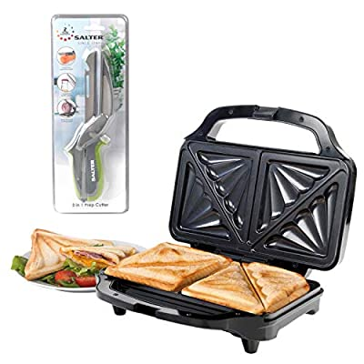 Salter COMBO-4942 XL Deep Fill Sandwich Toaster Press with 3 in 1 Prep Tool