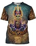Chiclook Cool Harajuku Tattoo Egyptian Shirt Print Unisex Clothing Swag T-Shirt, Ankh Symbol Art, XL