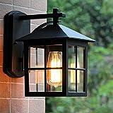 Aplique de pared para exteriores moderno Aplique de pared LED IP23 prueba de agua,aplique de aluminio Linterna clásica,porche Pabellón porche terraza caminos de jardín escaleras Iluminación exterior