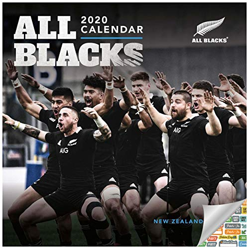 The New Zealand National Rugby Union Team The All Blacks Calendar 2020 All Blacks Wall Calendar Bundle with Over 100 Calendar Stickers