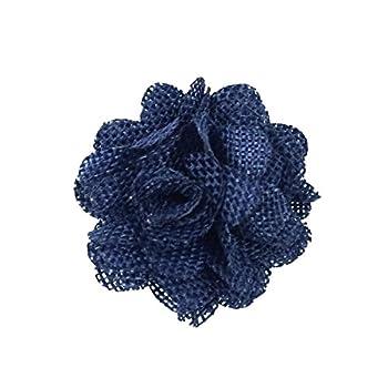 Wrapables Shabby Chic Burlap Rose Flower 2 Inch Diameter  Set of 20  Midnight Blue
